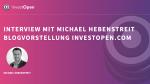 Vom WordPress Unternehmer zum Finanzblogger - Blogvorstellung InvestOpen.com